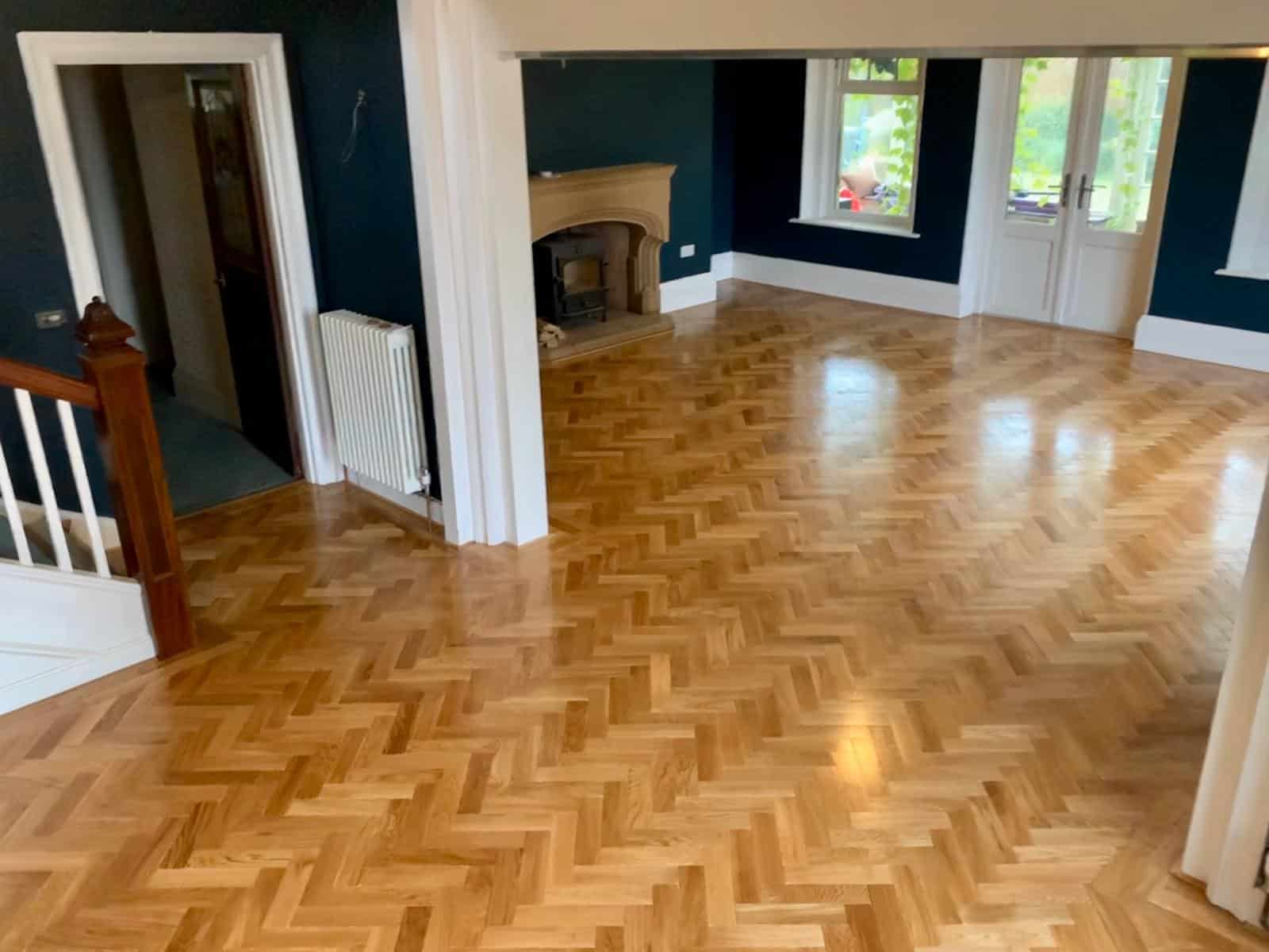 Tumbled Oak Parquet Flooring for a Home with Kids & Pets 1