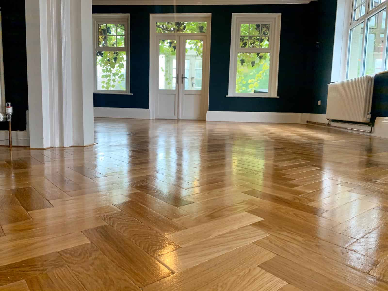Tumbled Oak Parquet Flooring for a Home with Kids & Pets 3