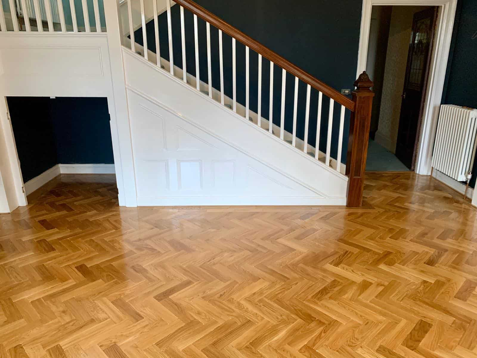 Tumbled Oak Parquet Flooring for a Home with Kids & Pets 4